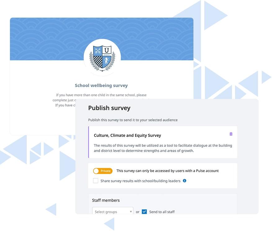 Satchel Pulse survey sharing
