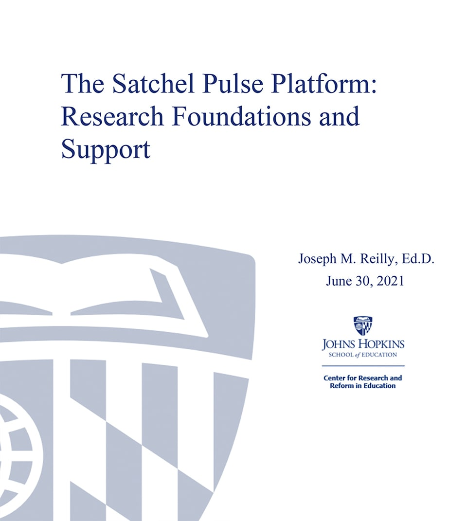 The Satchel Pulse Platform: Research Foundations and Support cover