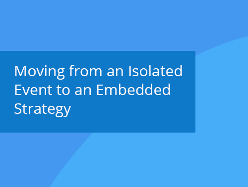 Moving from an Isolated Event to an Embedded Strategy webinar