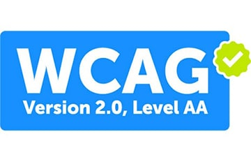 Image of the logo for the Web Content Accessibility Guidelines