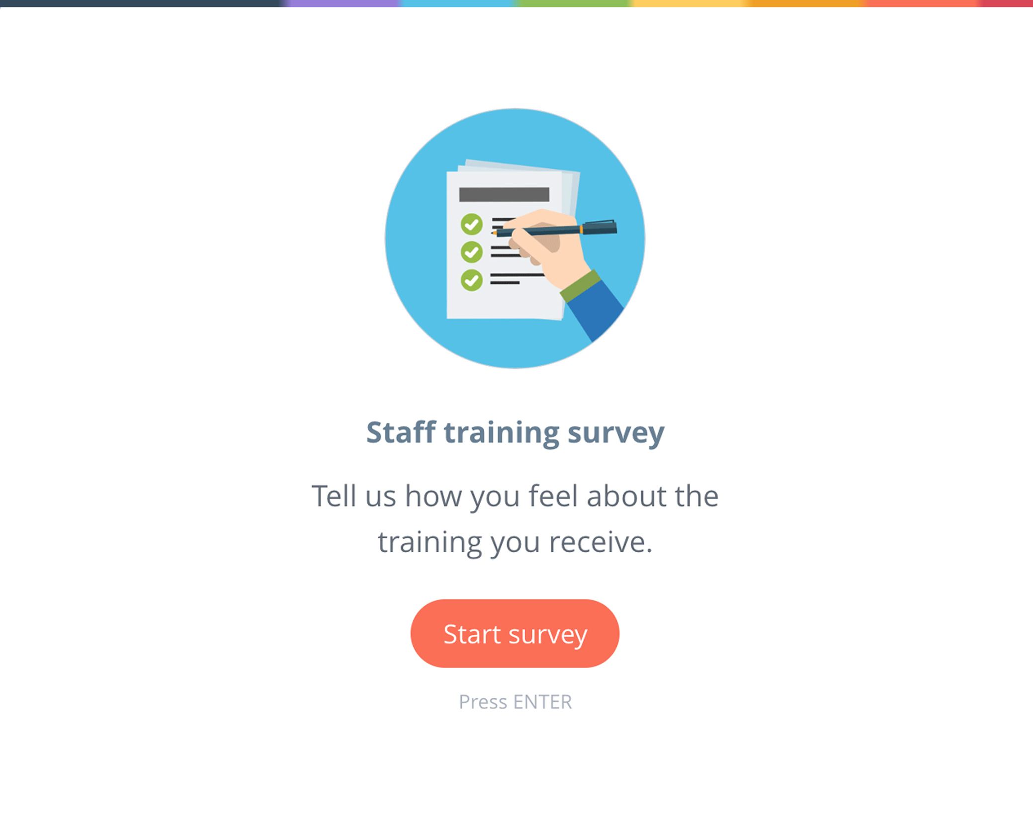Graphic showing a Satchel Pulse survey for staff