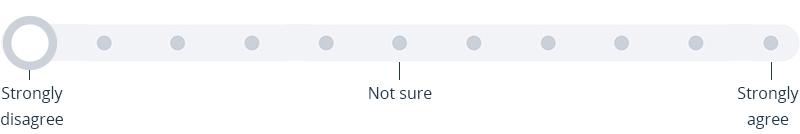 Survey slider question, part of Satchel Pulse